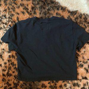 UNIF Tops - UNIF black/green racer crop top t-shirt Small